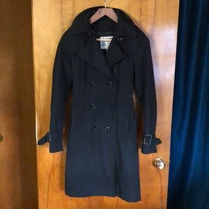 Black Trench Coat with Quilted Liner